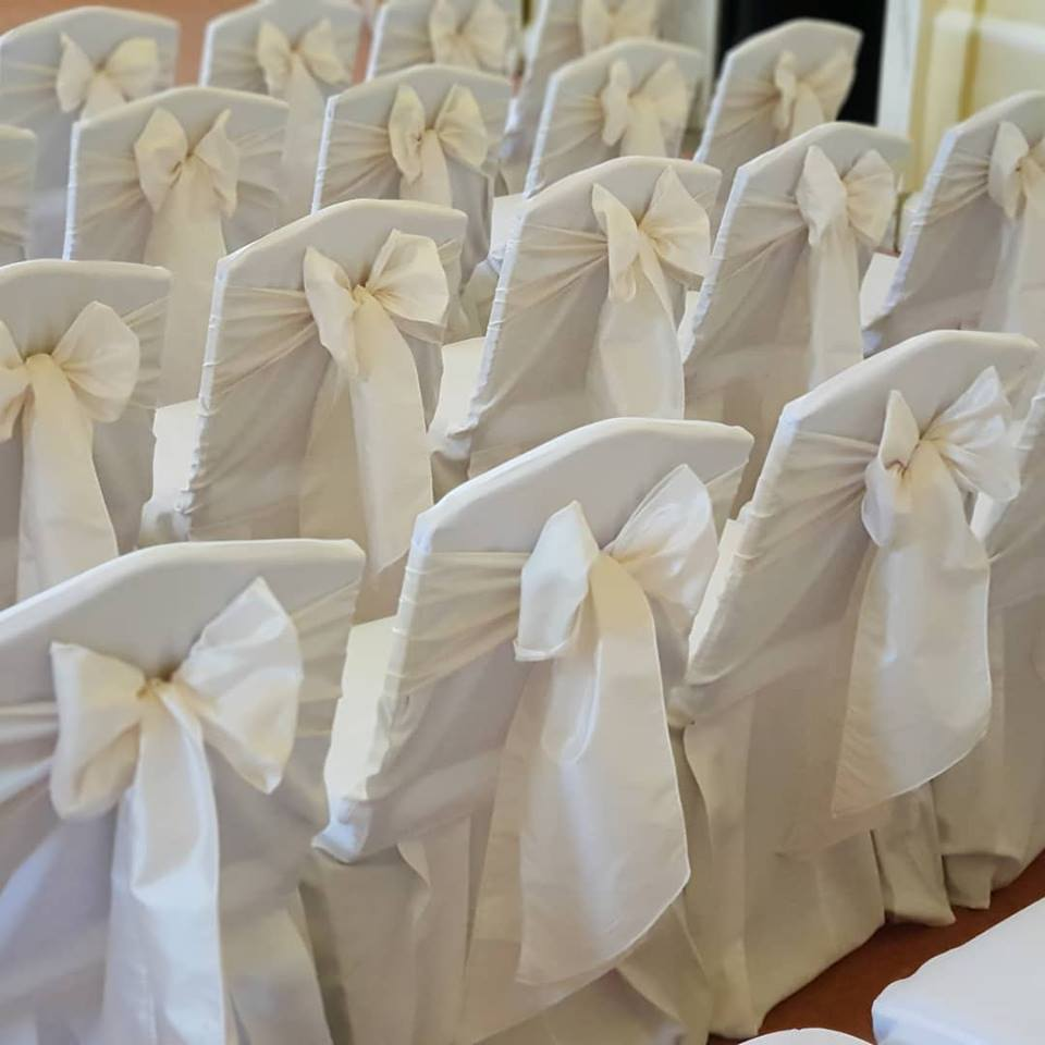 chair sashes and bows