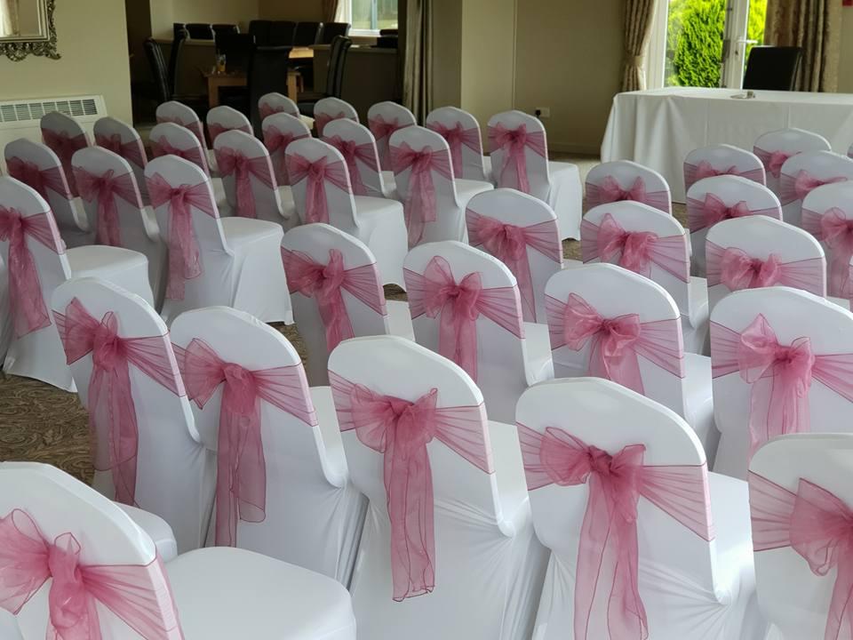 dark pink chair dressing