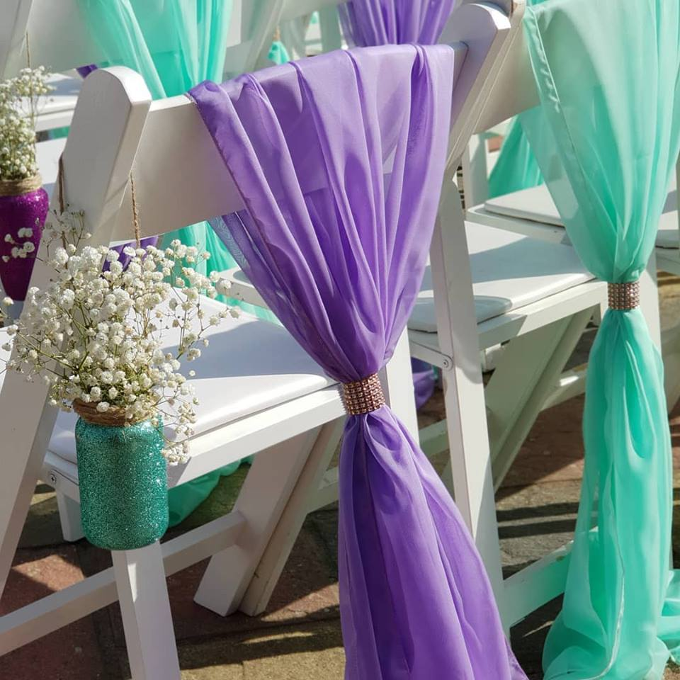 lavender and mint chair dressing