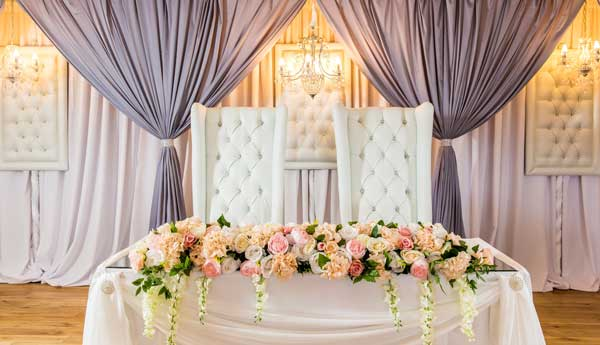 ceremony wall drapes